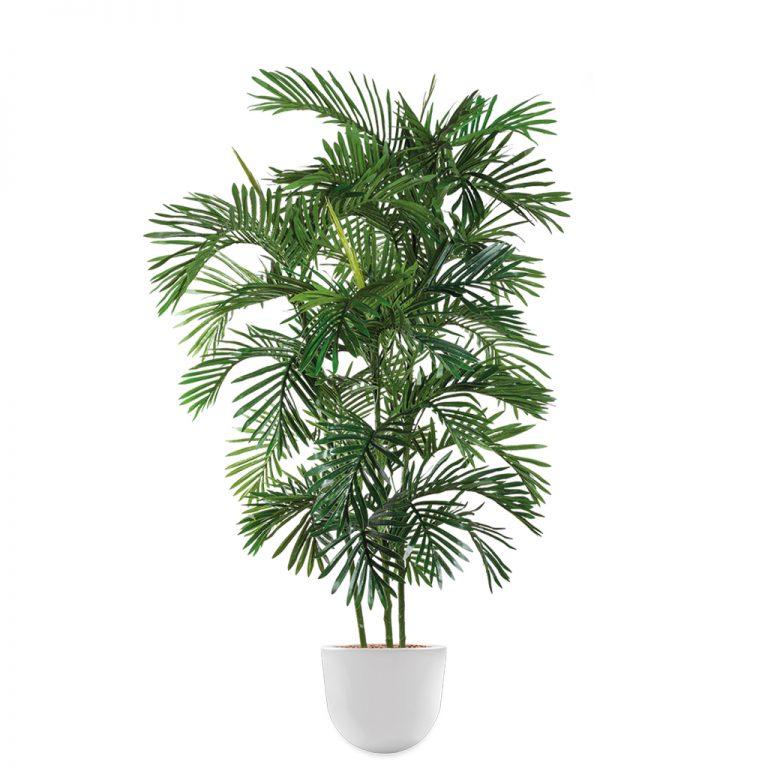 HTT - Kunstplant Areca palm in Eggy wit H190 cm - kunstplantshop.nl