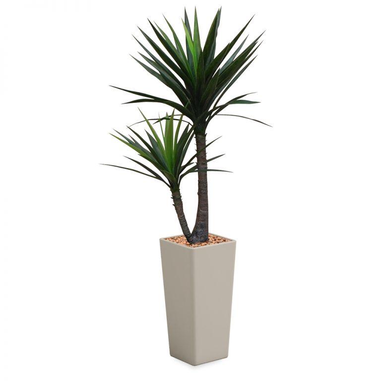 HTT - Kunstplant Yucca in Clou vierkant taupe H185 cm - kunstplantshop.nl