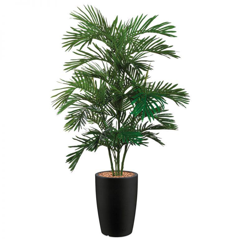 HTT - Kunstplant Areca palm in Genesis rond antraciet H180 cm - kunstplantshop.nl