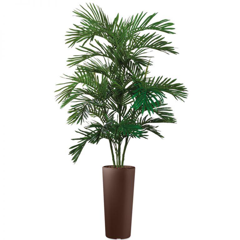 HTT - Kunstplant Areca palm in Clou rond bruin H215 cm - kunstplantshop.nl