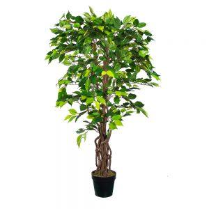 Kunstplant Ficus Groen H125cm - HTT Decorations