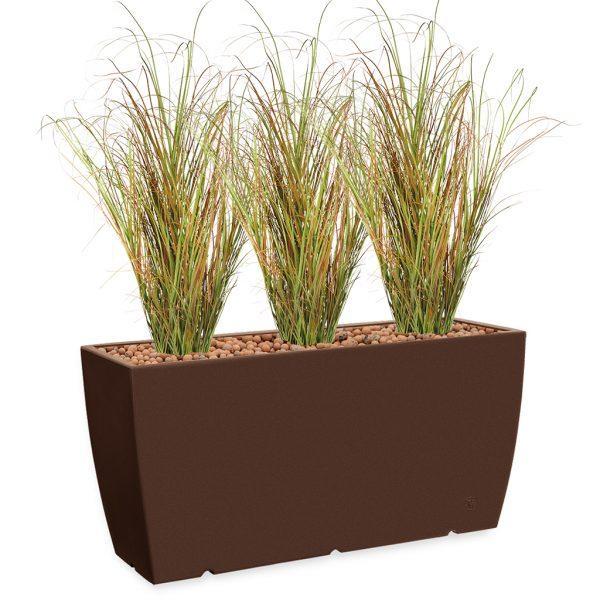 HTT - Kunstplant Siergras in Genesis cassetta bruin H160 cm - kunstplantshop.nl